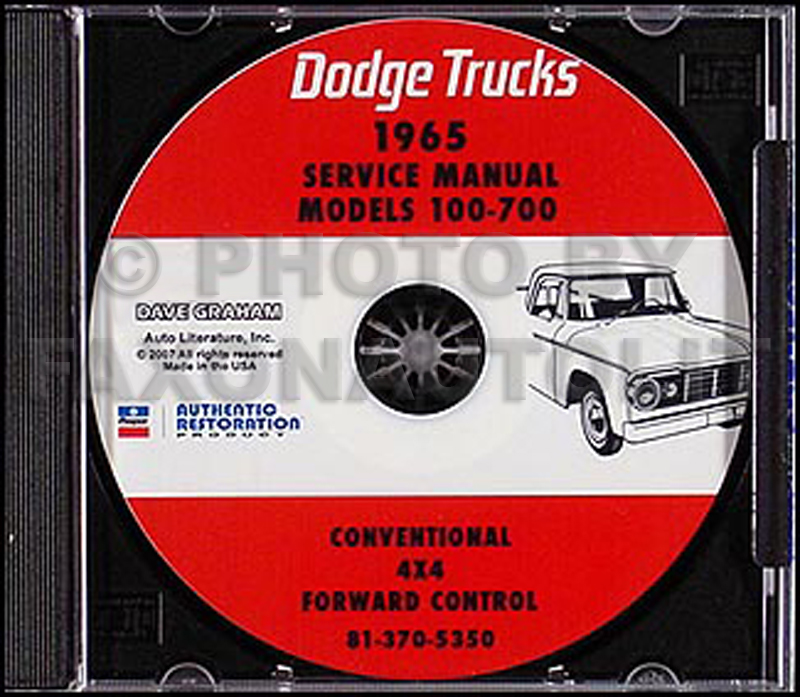 1965 Dodge Truck CD-ROM Shop Manual