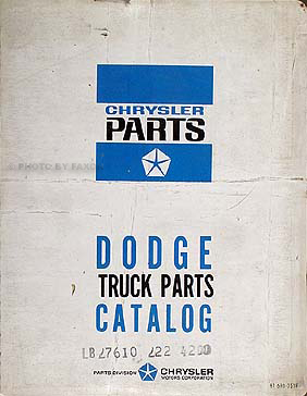 1965 Dodge Parts Book Original Van/Pickup/Truck/Power Wagon
