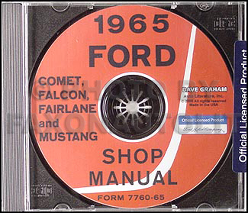 CD 1965 Mustang Falcon Fairlane, Ranchero Comet & Cyclone Repair Shop Manual