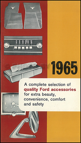 1965 Ford, Meteor & Mercury CANADIAN Accessories Catalog Original Car & Truck