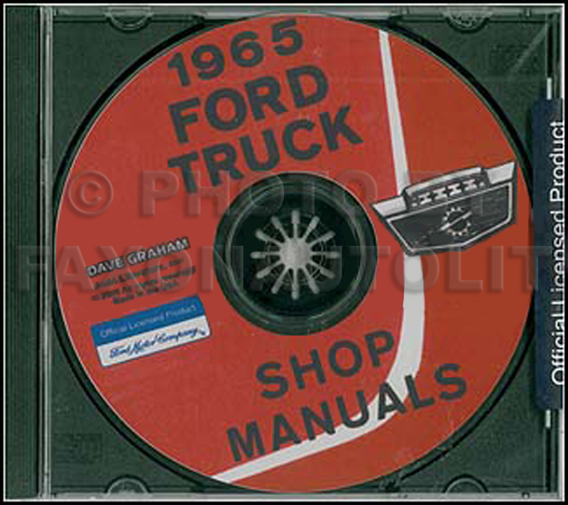 1965 Ford Truck Shop Manual Set on CD-ROM