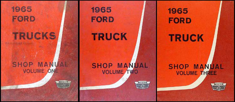 1965 Ford Truck Shop Manual Original 3 Volume Set