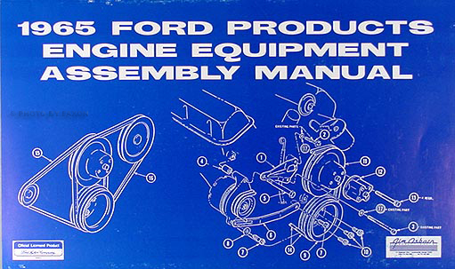 1965 Ford & Mercury 289 V8 Engine Assembly Manual Reprint