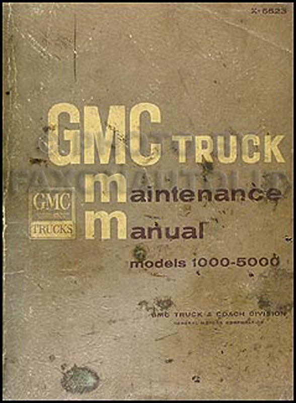 1965-1966 GMC 1000-5000 Repair Manual Original
