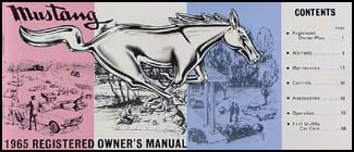 1965 Ford Mustang Owner's Manual Reprint