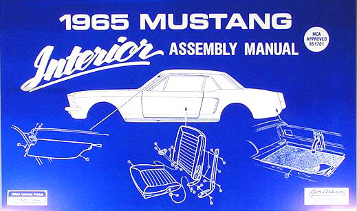 1965 Ford Mustang Interior Assembly Manual Reprint