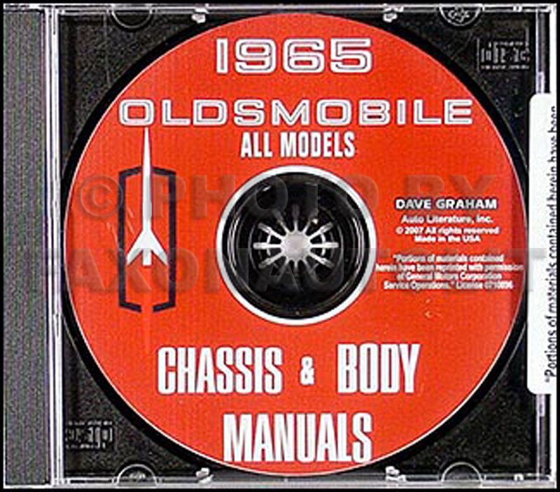 1965 Oldsmobile CD-ROM Shop Manual & Body Manual