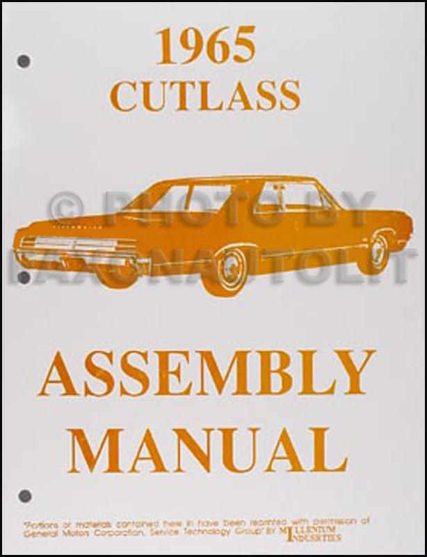 1965 Olds F-85, Cutlass & 442 Assembly Manual Reprint