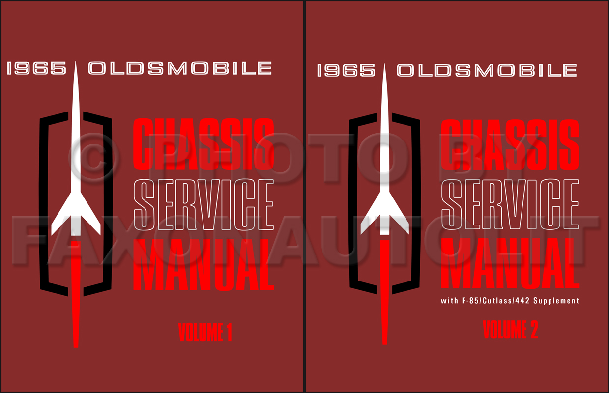 1965 Oldsmobile Repair Shop Manual Reprint Set
