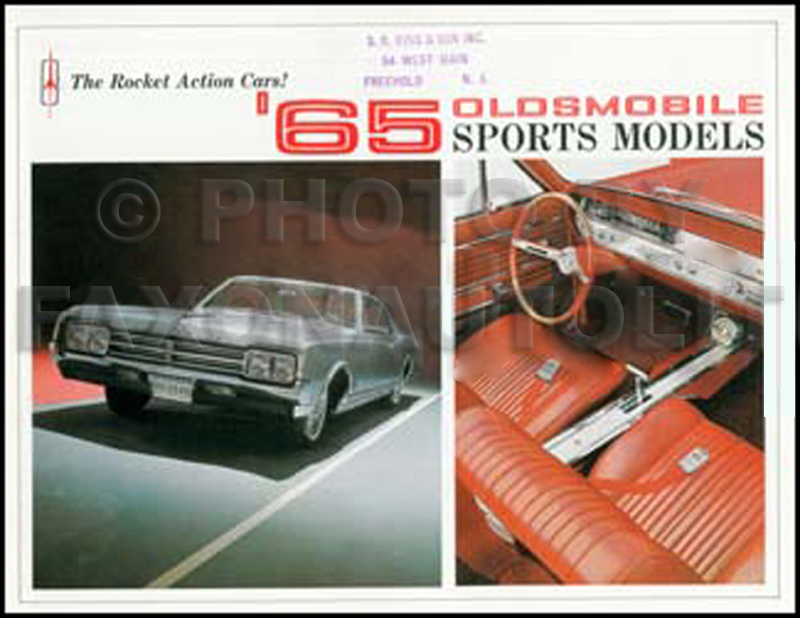 1965 Oldsmobile Sports Car Sales Catalog 442 Cutlass Starfire Jetstar I