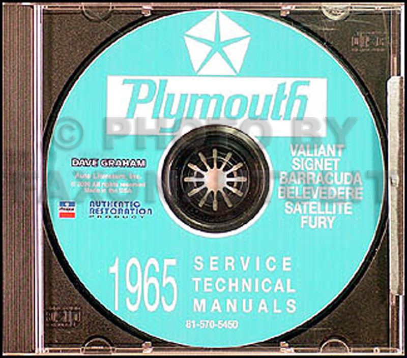 1965 Plymouth CD Repair Shop Manual Barracuda Belvedere Satellite Fury Valiant