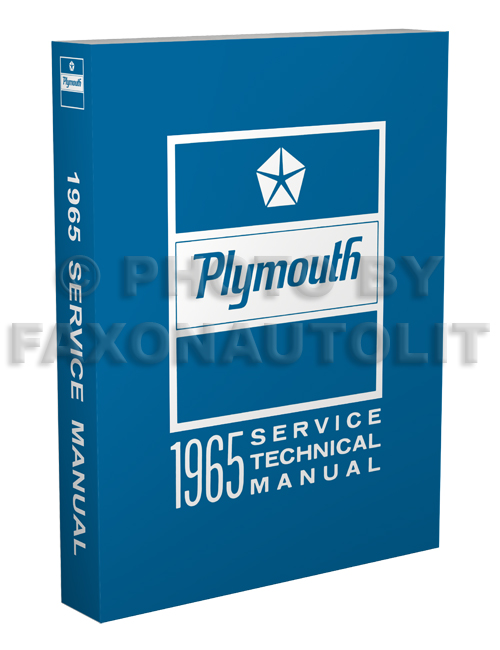 1965 Plymouth Shop Manual Reprint--All Models