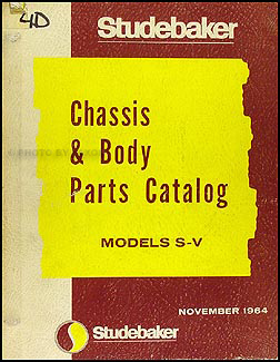 1965 Studebaker Car Parts Book Original