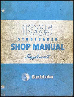 1965 Studebaker Car Shop Manual Original Supplement