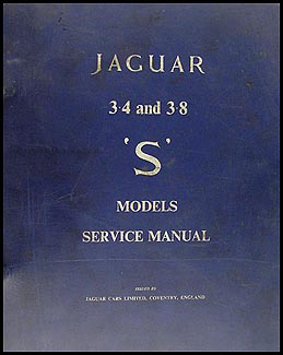 1963-1964 Jaguar 3.4S and 3.8S Repair Manual Original