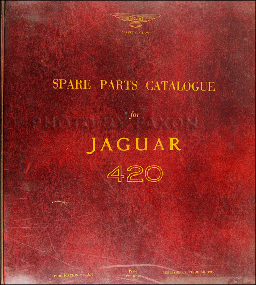 1966-1967 Jaguar 420 Parts Book Original