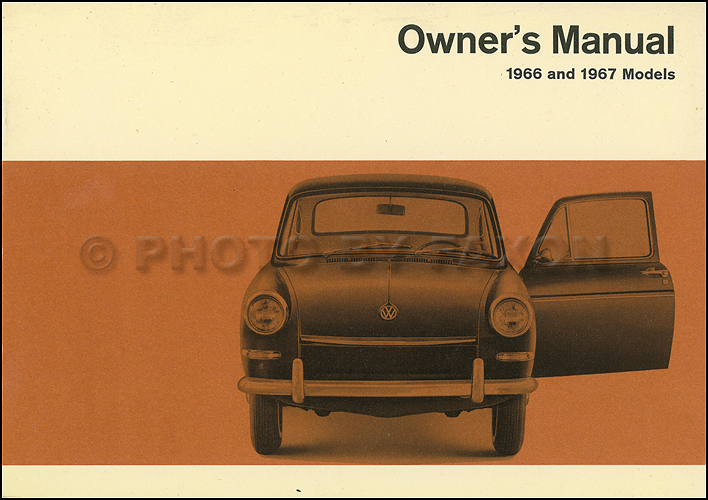 1966-1967 Volkswagen Fastback and Squareback Owner's Manual Original VW Type 3