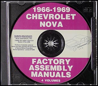 CD-ROM 1966-1969 Chevrolet Nova Assembly Manual