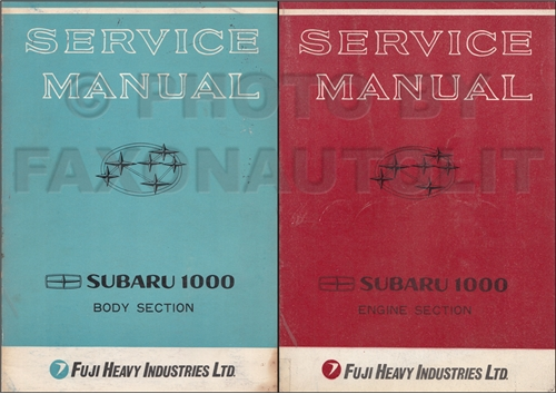 1977 Subaru Repair Manual Original
