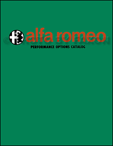 1966-1972 Alfa Romeo Performance Options Catalogue Reprint