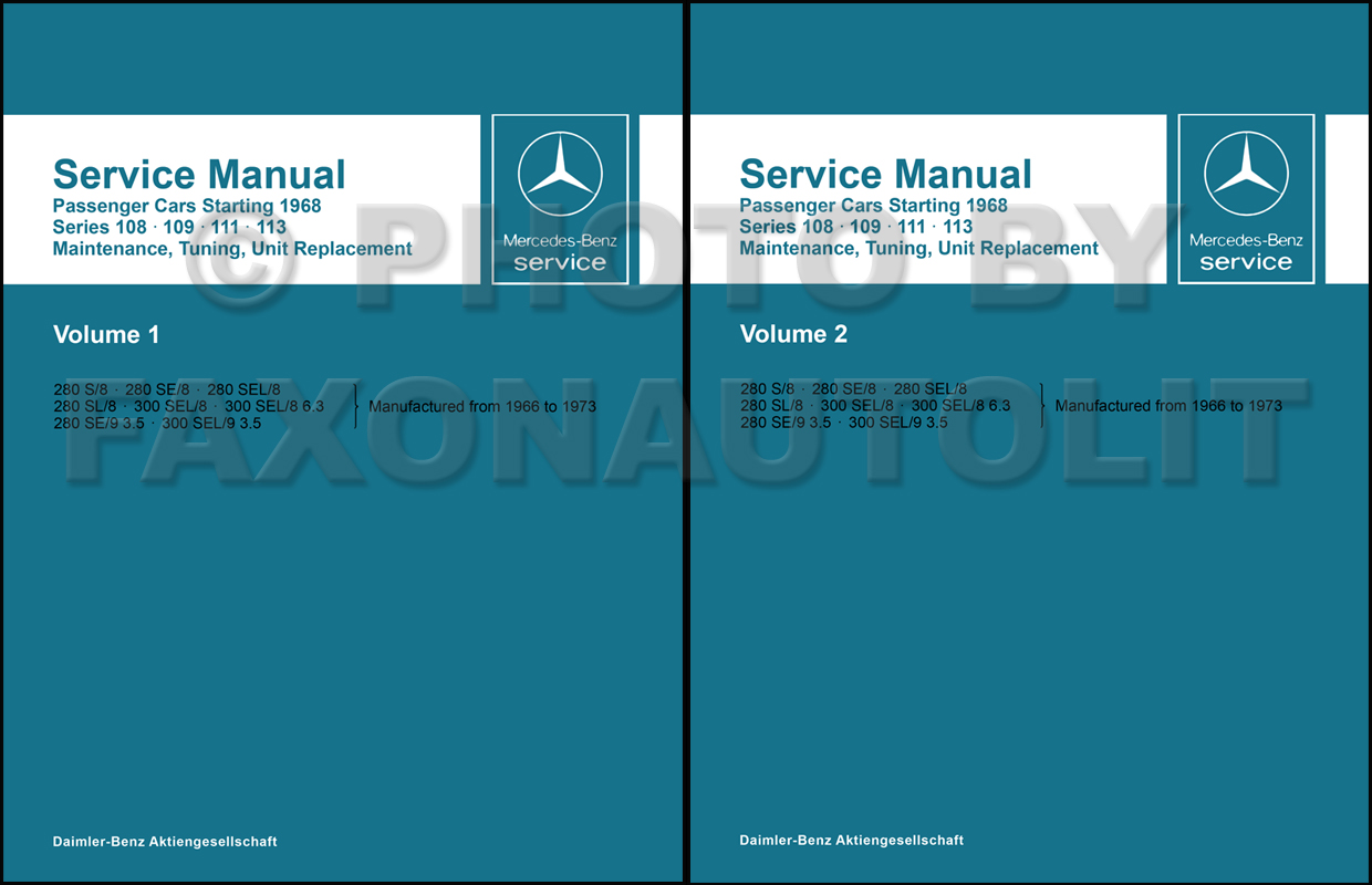 1968 Mercedes Diesel Wiring Diagram 1966 230s Libraries 1960 1967 Shop Service Manual Maintenance Reprint1966 1973 108 109 111 113