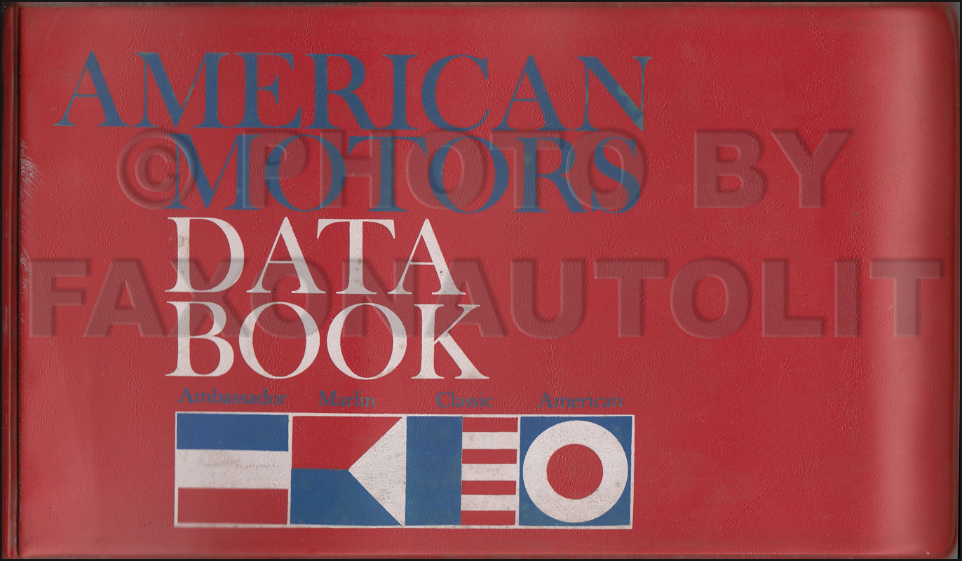 1966 AMC Data Book Original