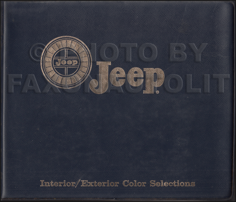 1966 Jeep Color and Upholstery Book Original