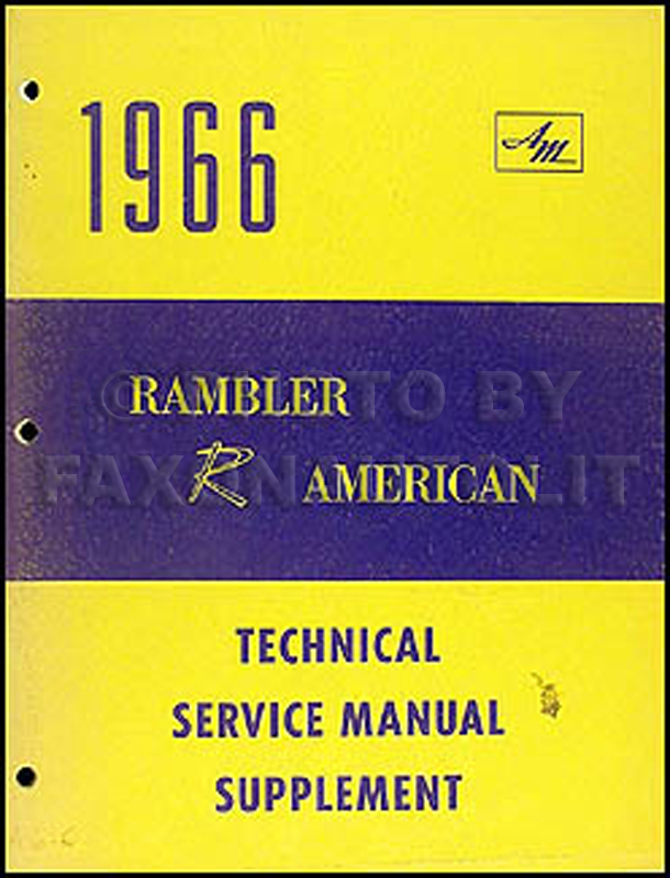 1966 AMC Rambler American 290 V8 Engine Shop Manual Original