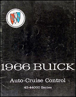 1966 Buick Cruise Control Shop Manual Original - Special/Skylark/GS