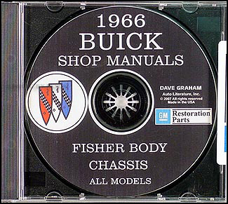 1966 Buick CD-ROM Shop Manual and Body Manual