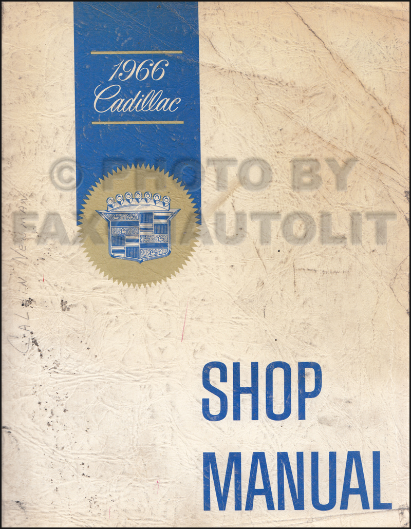 1966 Cadillac Repair Shop Manual Original