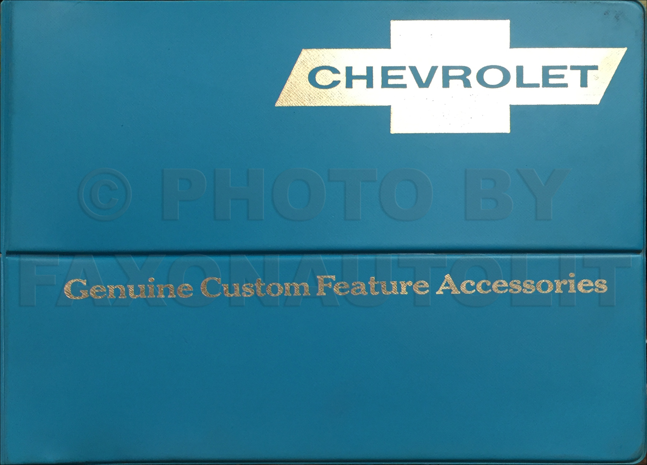 1966 Chevrolet Custom Feature Accessories Dealer Album Original