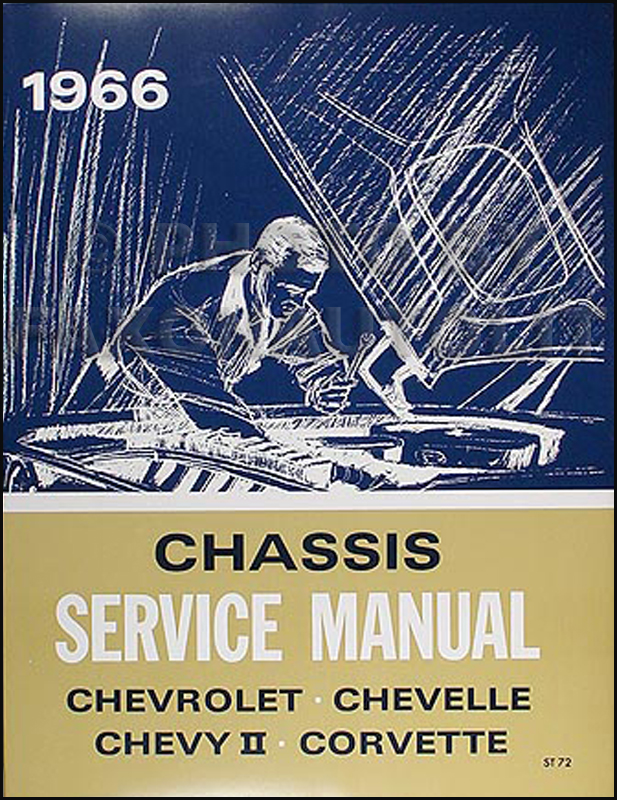 1966 Chevy Repair Shop Manual Reprint Impala Caprice Chevelle Malibu El Camino Chevy II Nova Corvette
