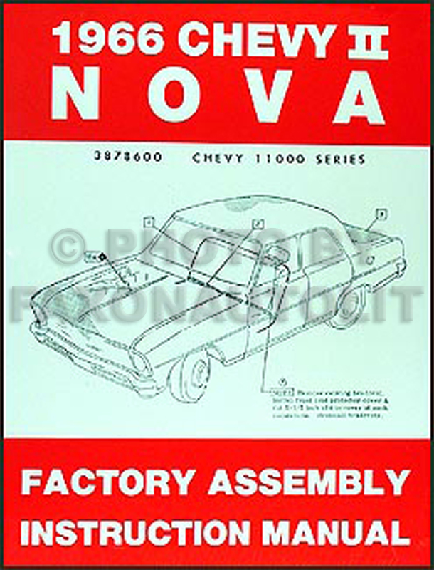 1966 Chevy Ii  U0026 Nova Wiring Diagram Manual Reprint