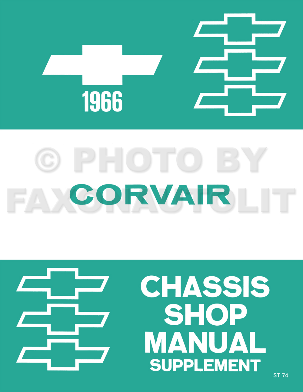 1966 Chevrolet Corvair Repair Shop Manual Reprint Supplement