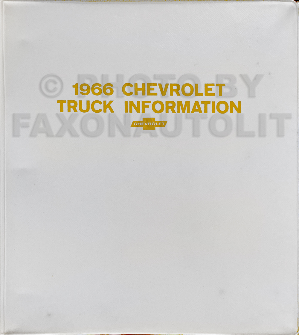 1966 Chevrolet Truck Sales Brochure Set in a Dealer Album