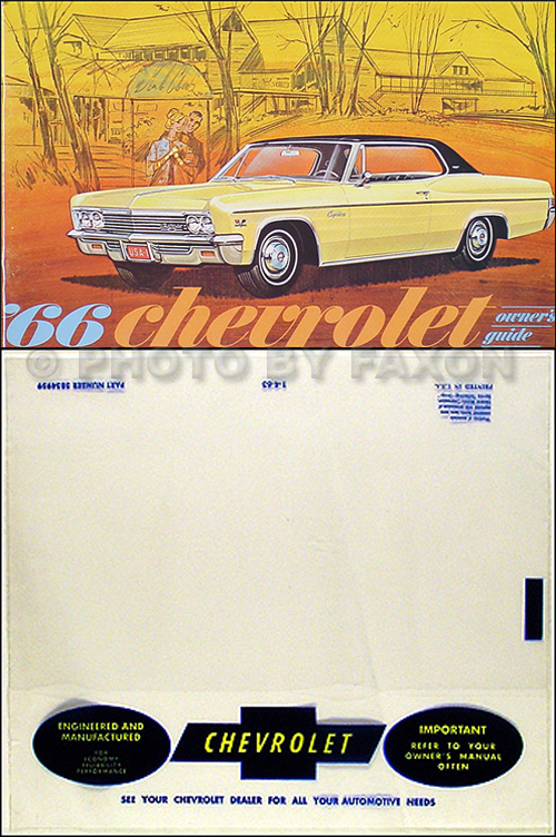 1966 Owner Manual Reprint Package Impala, SS Bel Air Caprice Biscayne