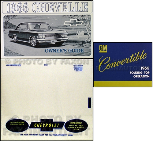 1966 Chevelle Malibu Convertible Owner's Manual Set