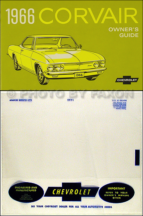 1966 Chevrolet Corvair Wiring Diagram Manual Reprint