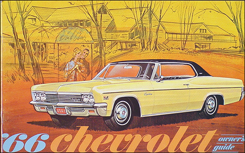 1966 Chevy Reprint Owner Manual Impala, SS, Bel Air, Caprice, Biscayne