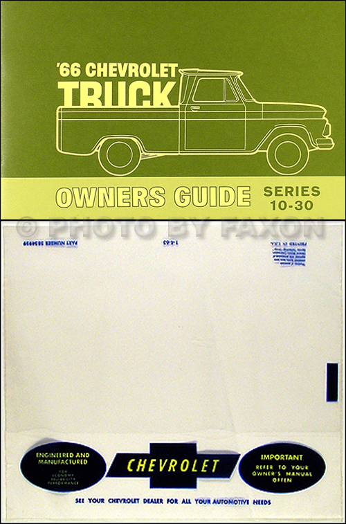 1966 Chevrolet ½-, ¾-, & 1-ton Truck Owner's Manual Package Reprint Pickup/Suburban/P-Chassis