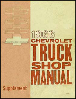 1966 Chevrolet Pickup & Truck Shop Manual Original Supplement