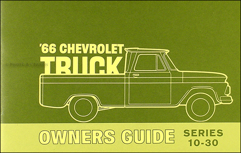 1966 Chevrolet Truck Owner's Manual Reprint Pickup Suburban P-Chassis