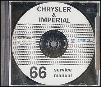 1966 Chrysler CD Repair Shop Manual Imperial New Yorker 300 Newport LeBaron