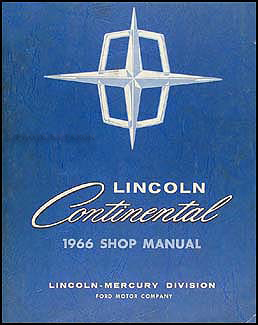 1966 Lincoln Continental Shop Manual Original