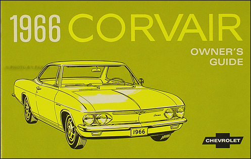 1966 chevrolet corvair owner's manual reprint