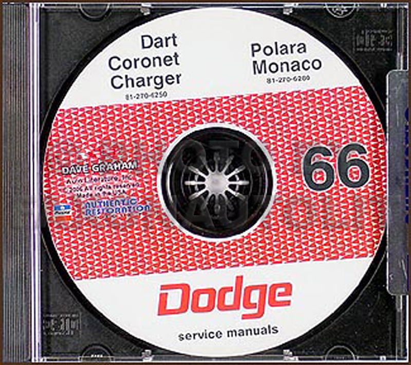 1966 Dodge CD Shop Manual for all models