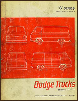 1966-1967 Dodge A-100 Repair Manual Original Van, Sportsman, etc.
