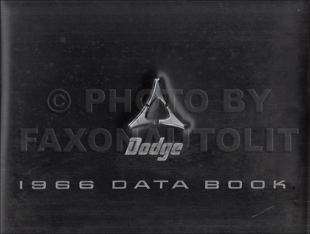 1966 Dodge Data Book Original