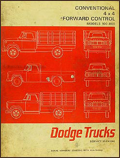 1966 Dodge 100-800 Pickup & Truck Repair Manual Original